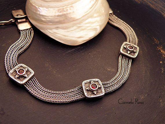 Greek bracelet Antique fine jewelry Silver mesh by CarmelaRosa