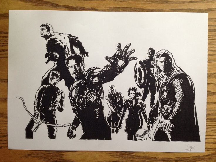 The Avengers (cinematic), Black pigment ink, A3