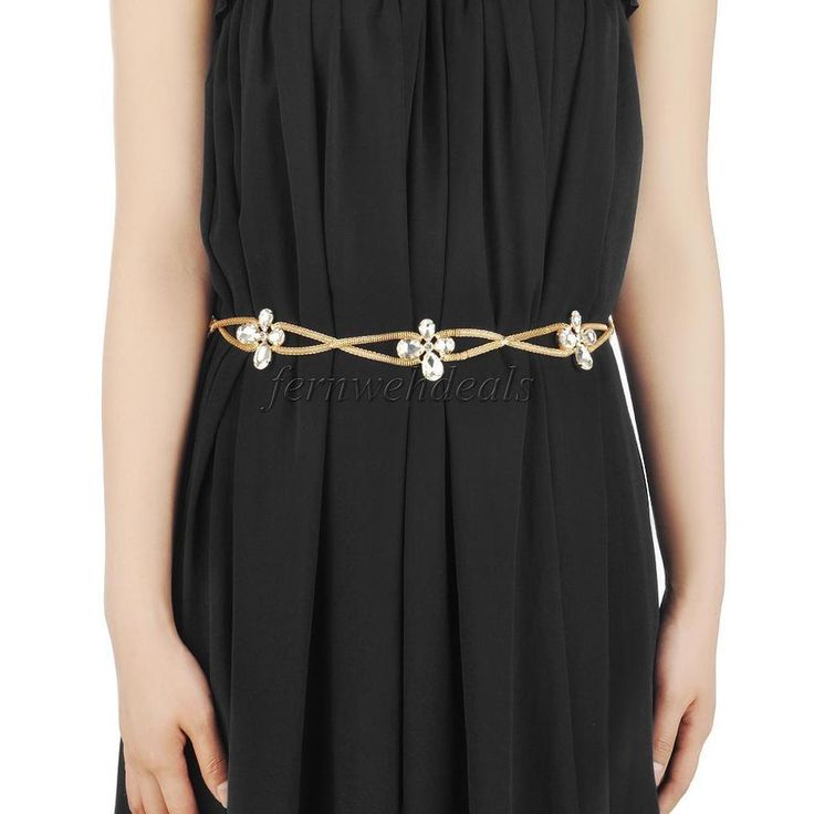 Fashion Chain Belts for Women Sliver Gold Skinny Waist Belt for Dress #MagiDeal #ChainBelt