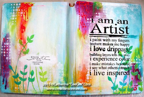 """CeeCee's Creatons.  Art Journal Cover by Catherine """"Cee Cee"""" Cote.  Something for everyone!"""