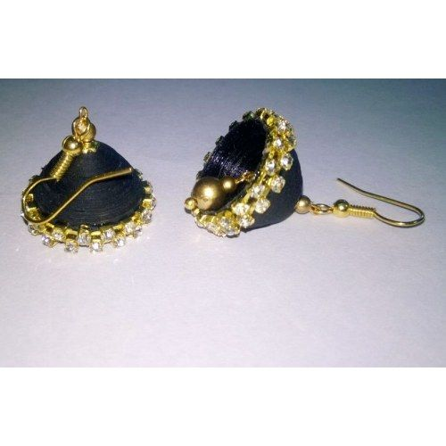 Online Shopping for Black quilled paper jhumkas(medium) | Earrings | Unique Indian Products by P V Fashions - MP V 47194981240