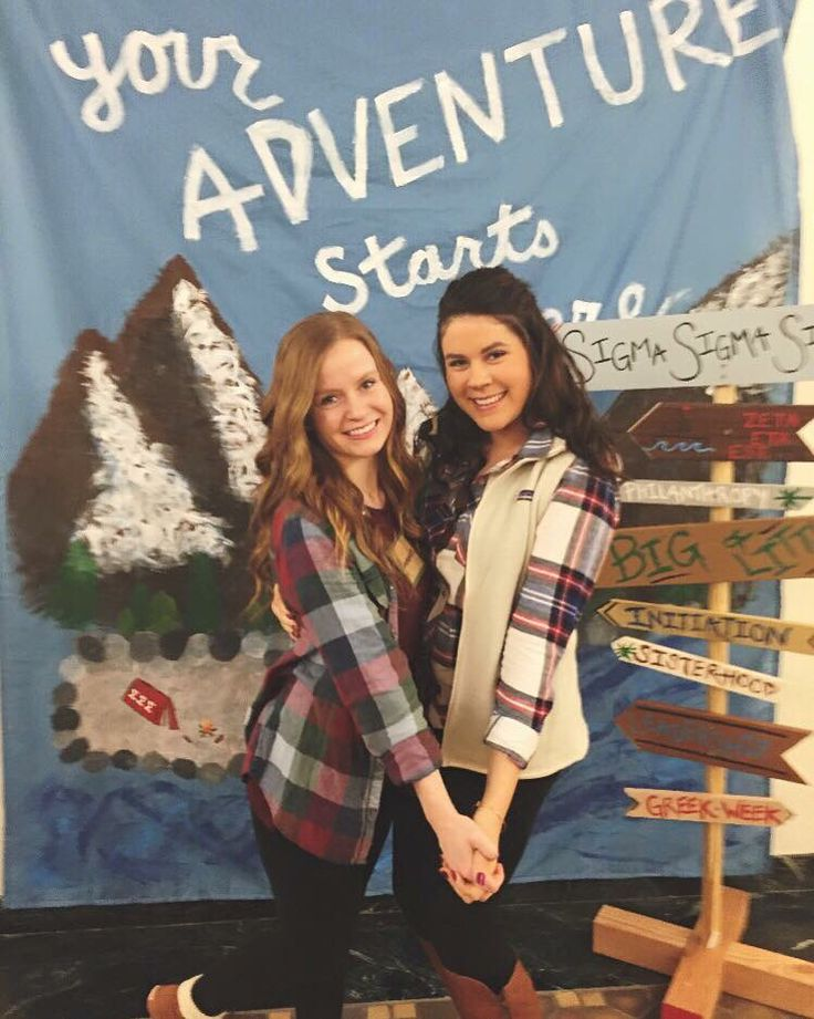 Sorority recruitment theme Your Adventure Starts with Tri Sigma More