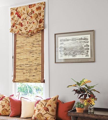 Flat fold natural woven shades in 13594 bhutan natural for Natural woven flat fold shades