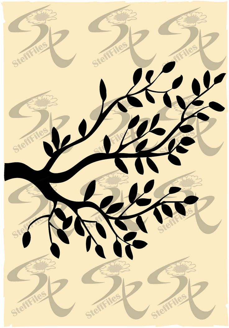 Vector BRANCHES, Illustrated,silhouettes,SVG,DXF,ai, png