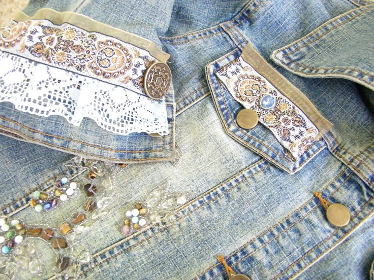 Maison decor add some bling to a jean jacket create for Decoration maison jean airoldi