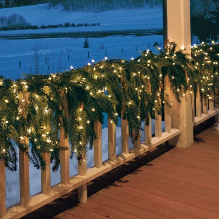# Christmas Greenery   I wish I had a big wrap around porch!