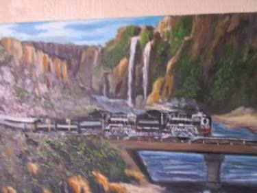 """Saatchi Art Artist FRANS BOTHA; Painting, """"25 CLASS F WITH TWO ENGINS"""" #art"""