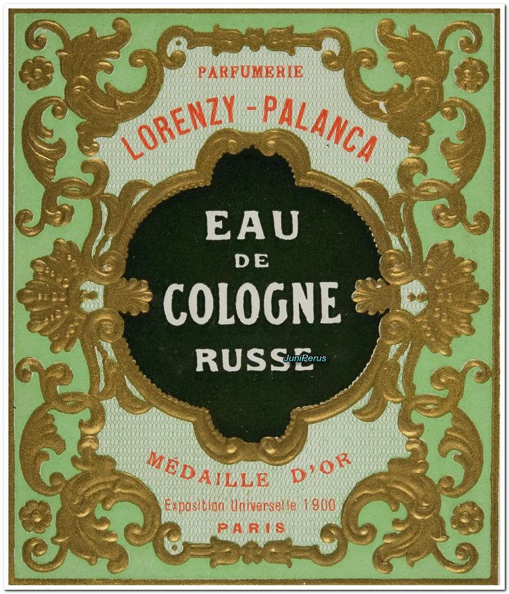 Eau de Cologne Russe  Paris, Lorenzy-Palanca, 1910-1920