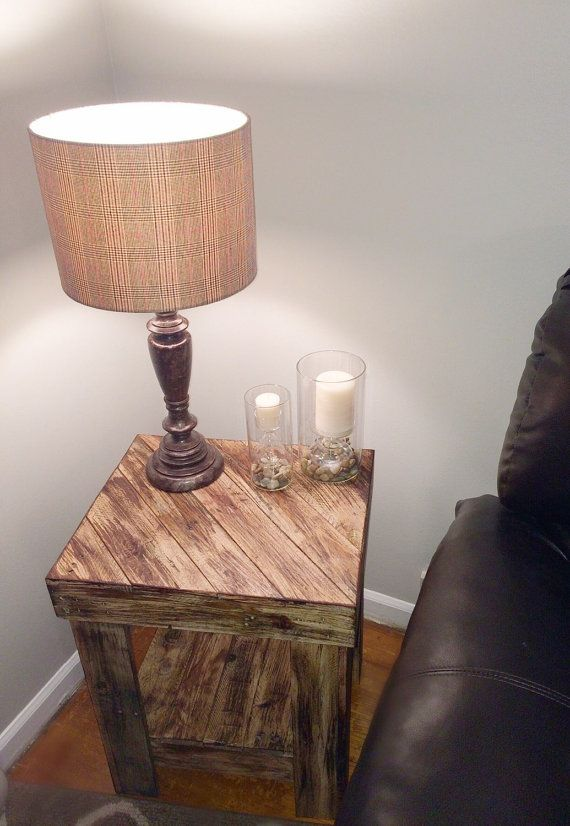 25 Best Ideas About Pallet End Tables On Pinterest Wood