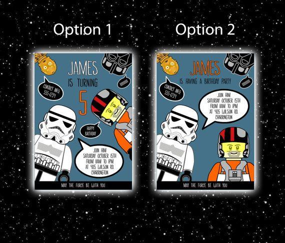 Lego Star Wars uitnodiging verjaardag van Star Wars, Lego Star Wars partij, afdrukbare Lego Star Wars verjaardagsuitnodiging, de kracht ontwaakt  Voor meer Lego Star Wars partij printables: www.etsy.com/shop/PrtSkinDigital?section_id=18640861  GROOTTE: 5 x 7 (inch) Wenst u een ander formaat - Neem contact met mij op.  WAT TE DOEN: Vul de volgende gegevens in bij het afrekenen - in opmerking voor verkoper: -Uw selectie: optie 1 of optie 2 (zie item afbeeldingen) -Dag, datum en t...