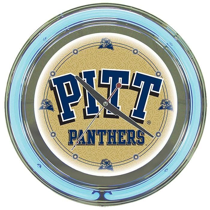 Trademark Commerce CLC1400-PITT University of Pittsburgh Neon Clock - 14 inch Diameter