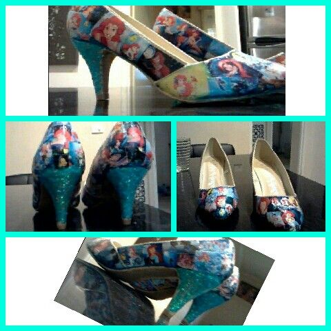 Modge podge mermaid heels