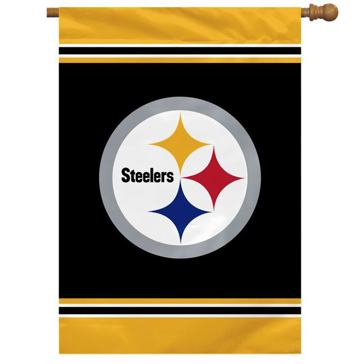 FlagCenter.com - Pittsburg Steelers One-Sided House Flag, $22.00 (http://www.flagcenter.com/pittsburg-steelers-one-sided-house-flag/)