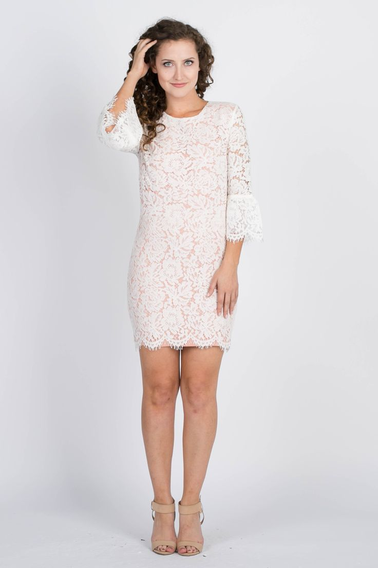 Obession Bell Sleeves Lace Dress