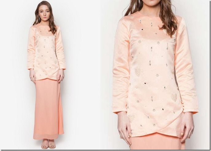 Glamorous Pastel Baju Kurung Ideas For Raya 2016 / pearly-pink-kurung