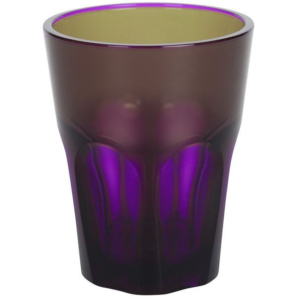 Mario Luca Giusti Double Face Acrylic Tumbler - Violet ($14) ❤ liked on Polyvore featuring home, kitchen & dining, drinkware, purple, purple tumbler, mario luca giusti, acrylic tumblers, acrylic drinkware and colored tumblers