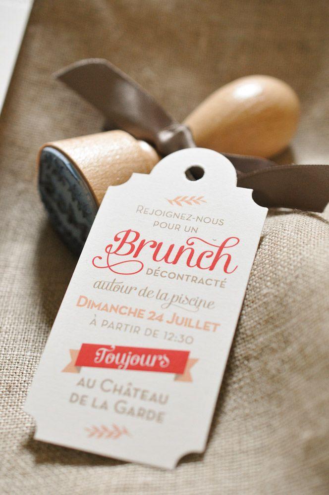 L'Atelier Letterpress – Tampon monogramme et étiquette brunch, assortis au …