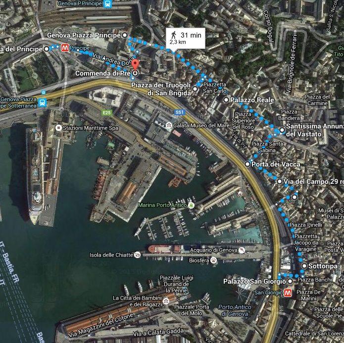 Itinerario del Principe Genova