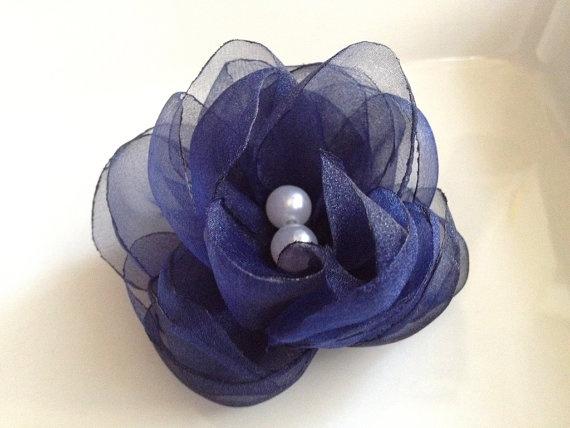6  pieces royal blue handmade organza  flowers with by bidesign, $18.00Crafts Ideas, Blue Handmade, Fabrics Flower, Organza Flower, Friends Wedding, Royal Blue, Handmade Organza, Piece Royal, Crafty Ideas