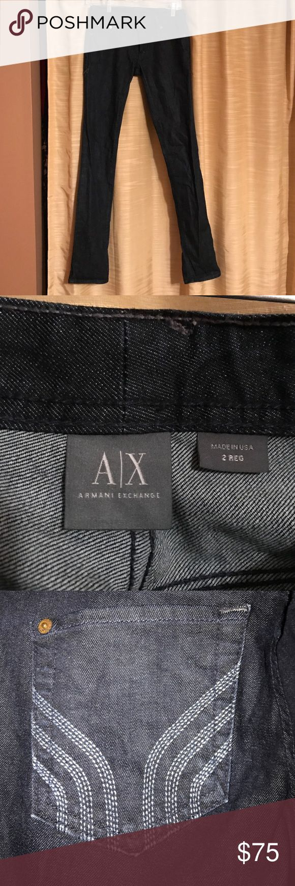 Armani Exchange jeans Armani Exchange jeans.  Dark wash. Boot cut. Only worn once! A/X Armani Exchange Jeans Boot Cut