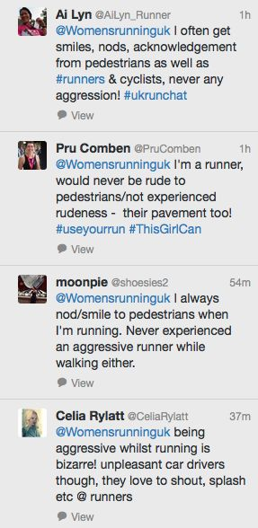 WR readers defend runners following allegations made on BBC Radio Two Jeremy Vine Show that runners are aggressive - Women's Running