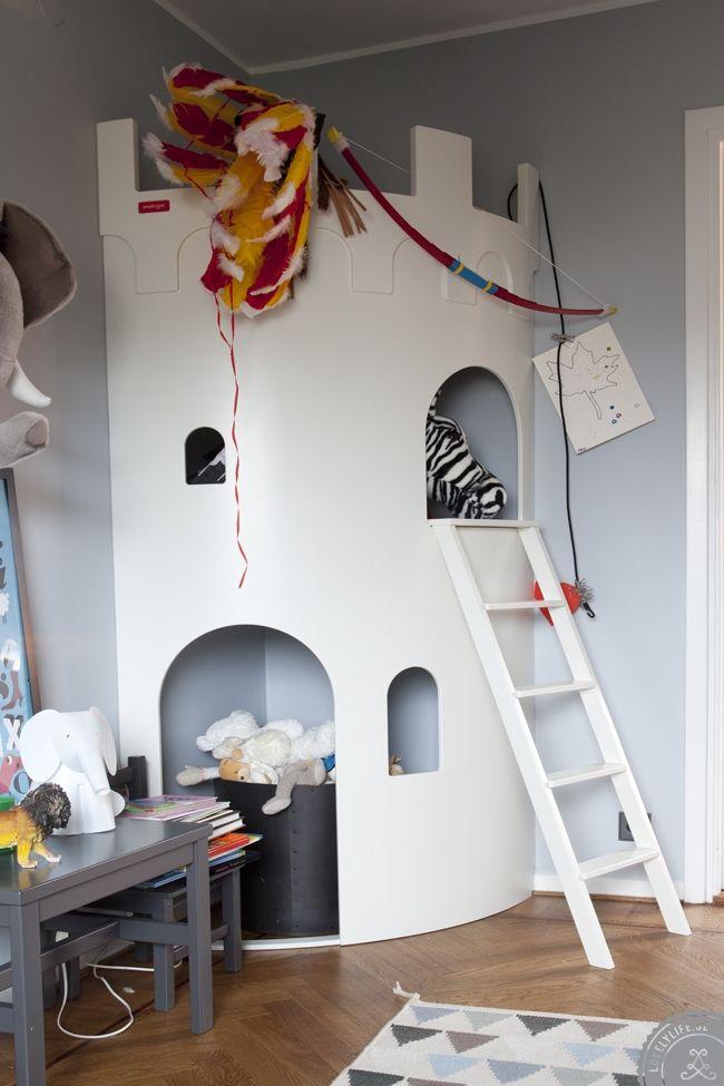 castle in playroom!