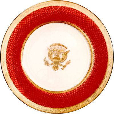 "Remembering all the objections to the amount of money spent on the new Reagan White House China - ""Reagan red"""