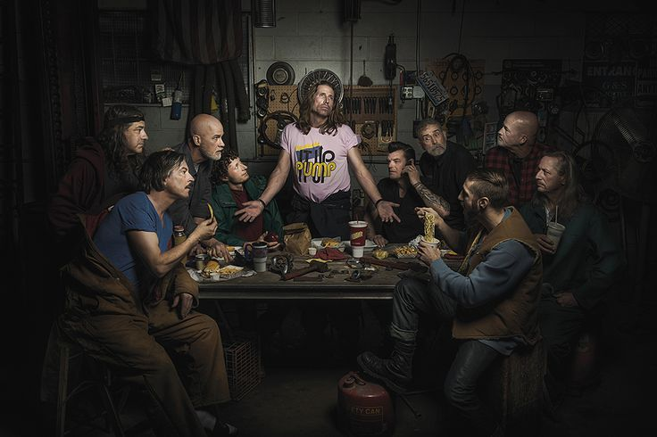 Freddy Fabris | Potraits of Auto Mechanics as Renaissance Paintings - Last Supper