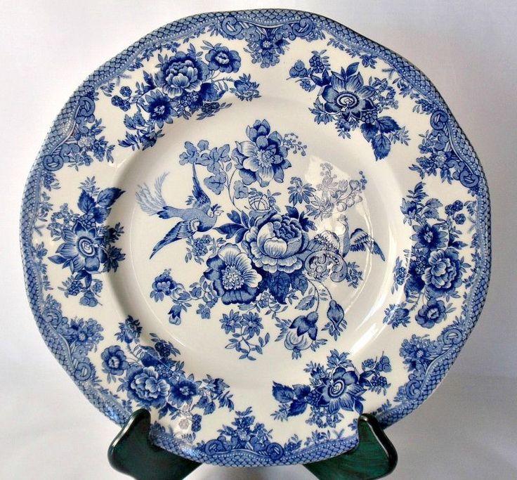 Johnson Brothers China Dinner Plate Blue White Asiatic Pheasant 10\  Porcelain - $10.99 #JohnsonsBrothers  sc 1 st  Pinterest & 35 best Vintage Pottery \u0026 Porcelain images on Pinterest | Antique ...