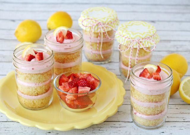 Lemon strawberry cupcakes recipe