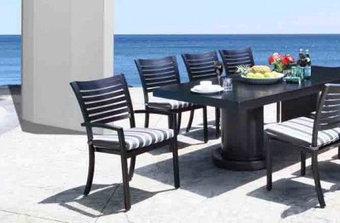 Lakeview Modern Cast Aluminum Patio Furniture Dining Set