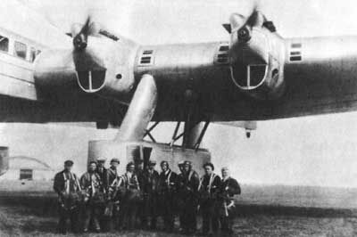 Kalinin K-7 Giant Transport/Bomber (USRR 1933) Designed by World War I aviator Konstantin Kalinin with a wingspan greater than the B-52 and a much greater wing area, the K-7 was one of the biggest aircraft built before the jet age. It was only one engine short of the B-52 as well, having the curious arrangement of six pulling on the wing leading edge and one pushing at the rear. http://www.fiddlersgreen.net/models/aircraft/Kalinin-K7.html