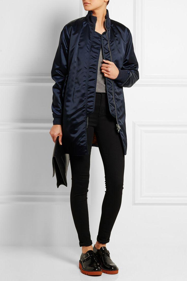 Long style bomber jacket. Acne Studios in navy.