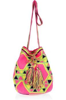 WAYUU TAYA  Mochilla crocheted cotton cross-body bag
