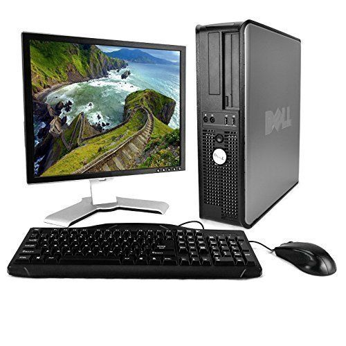 Dell Desktop Computer Package with WiFi Dual Core 2.0GHz 80GB 2GB Windows 10 Professional 17 Monitor (Brands Vary) Keyboard Mouse