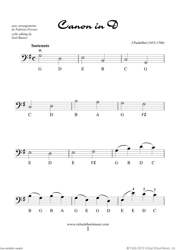 "Valentine Sheet Music for cello solo ""For Beginners"""