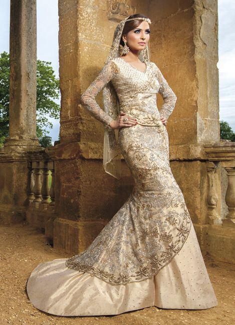 East Meets West!  Indo western gown. Indian wedding gown #weddingdress