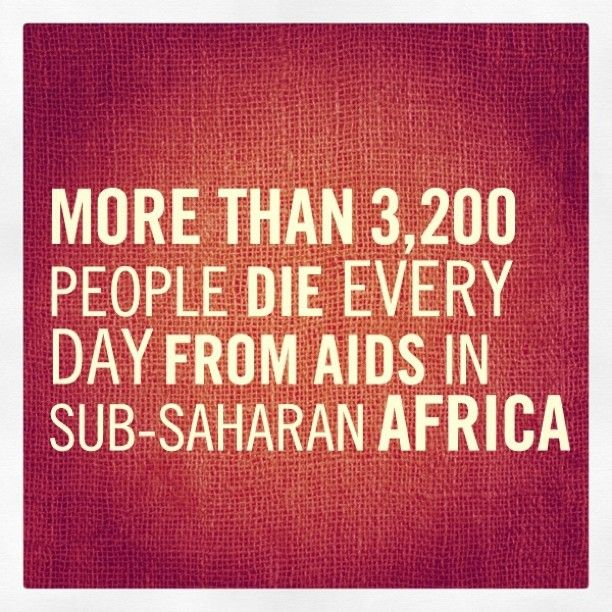 10 #FACTS about HIV/AIDS – #7: More than 3,200 people die every day from AIDS in sub-Saharan Africa.