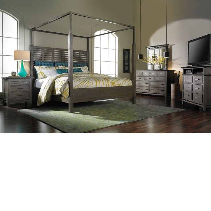 The Dump Furniture QUEEN CANOPY BED