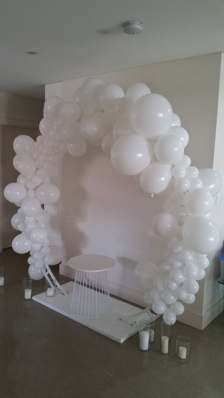 Balloon arch!!                    Whimsical heavenly cloud inspired archway - for photo back drop