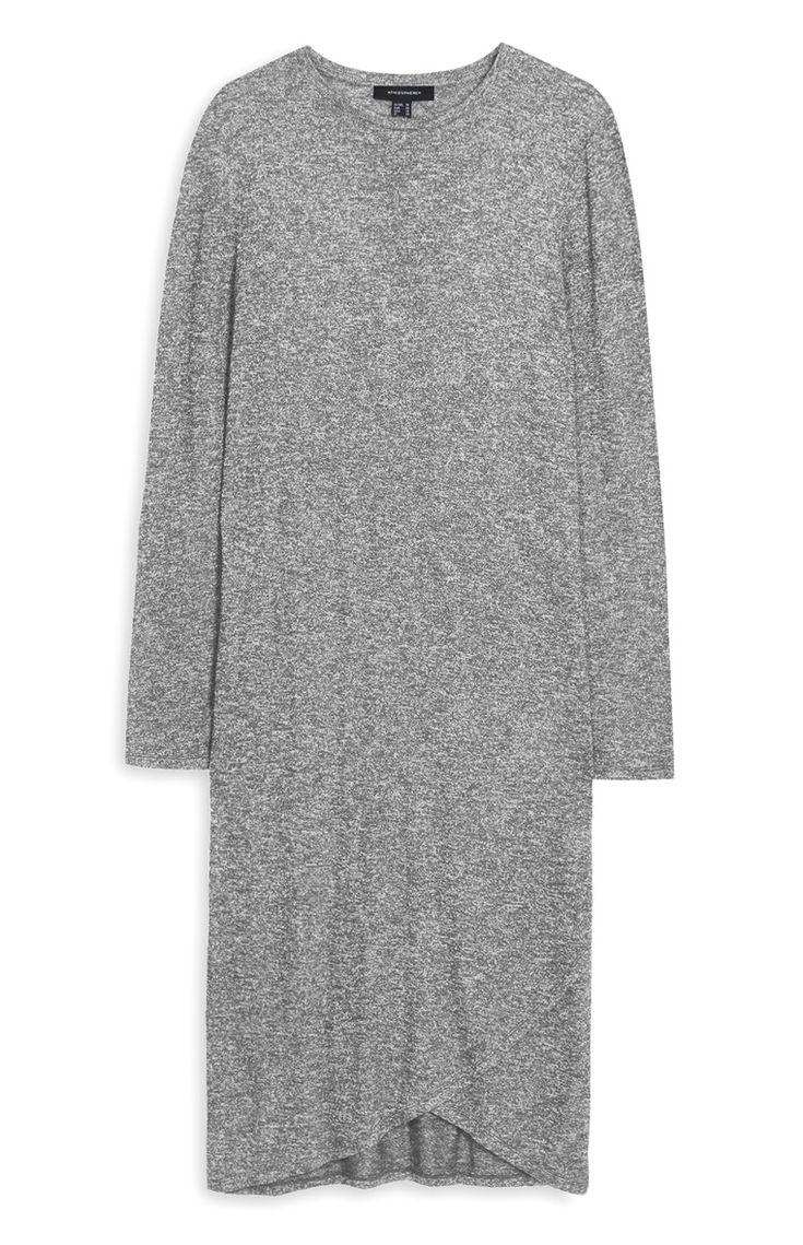 Primark - Vestido de malha cardada c/ dobra cinza