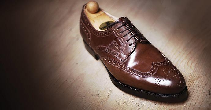 Unique handmade bespoke men's shoes. Modell: Budapest modell (cognac-cordovan).