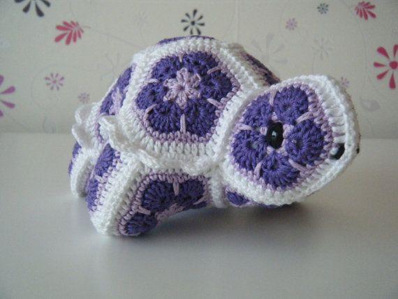Op bestelling  Gehaakte schildpad bestaande uit door HandmadebyFieke