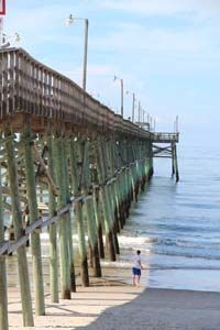 The Oak Island Fishing Pier is a popular destination spot.