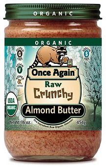 Organic Almond Butter (Raw, Crunchy)