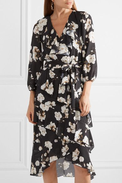 3153a057987e21 ALICE OLIVIA Kye mesmerizing ruffled floral-print crepe de chine midi dress