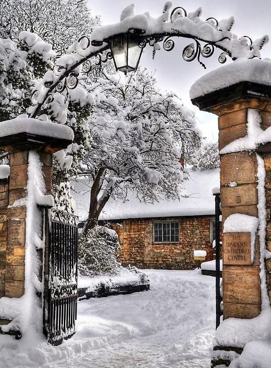 Cathedral in snow - Lincoln Cathedral, Lincolnshire