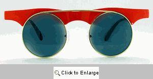 Rebel Flat Bridge Sunglasses - 214 Red