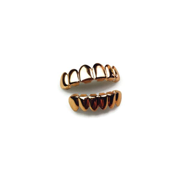 Refinement Clothing Co. The 'Roses of War' Rose Gold Grills Set by... ($80) ❤ liked on Polyvore featuring mens, jewelry, accessories and rose gold