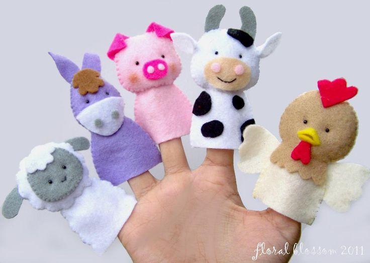 Farm Friends Felt Finger Puppets